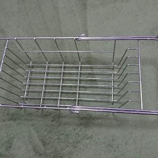 流れる向きが選べるステンレス水切り用傾斜トレー 約46.5×31×3.5cm