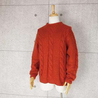 アレグリ(allegri)のアレグリ カシミヤ,シルク配合 ケーブル編み羊毛セーター 48(L)(ニット/セーター)