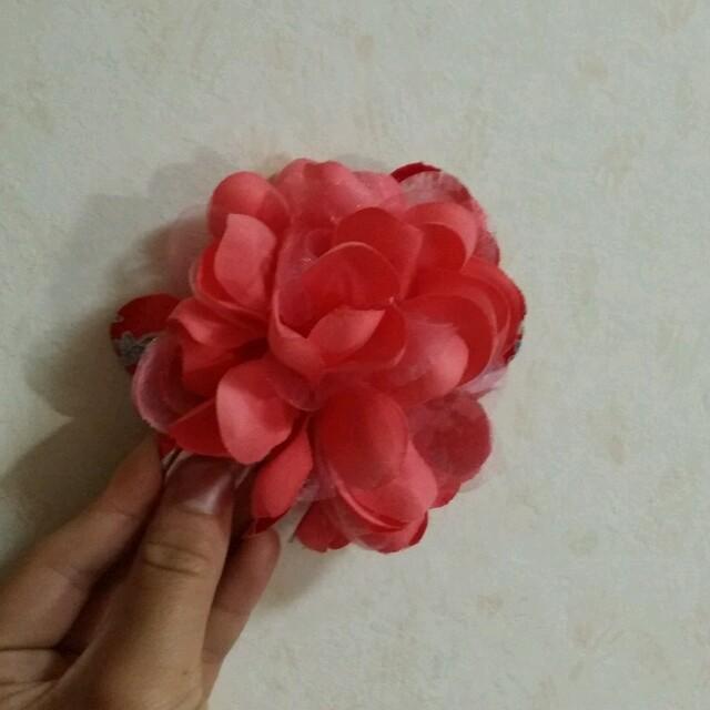 ピンクの桜巾着 レディースの水着/浴衣(和装小物)の商品写真