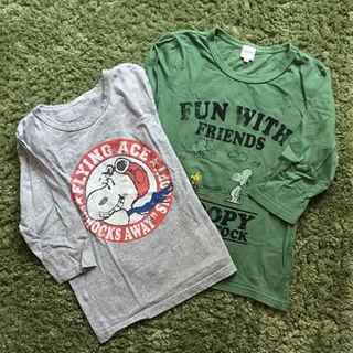 シップス(SHIPS)のSHIPSキッズ♪スヌーピー七分袖Tシャツ♪2枚(その他)