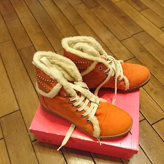 ANITA ARENBERG(アニタアレンバーグ)のアニタ アレンバーグ ボアライナーショートブーツLL(オレンジ) レディースの靴/シューズ(ブーツ)の商品写真