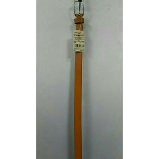 ムジルシリョウヒン(MUJI (無印良品))の新品  無印良品 ヌメ革 手染め細帯ベルト・キャメル(ベルト)