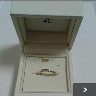 ヨンドシー(4℃)の4℃☆ピンクシルバー☆一粒ダイヤリング(リング(指輪))