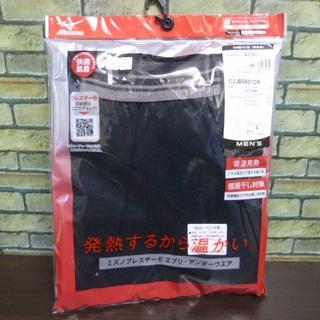 ミズノ(MIZUNO)のL 黒)ミズノ ブレスサーモ タイツ 薄手 フットレス 吸湿発熱消臭伸縮暖か(レギンス/スパッツ)