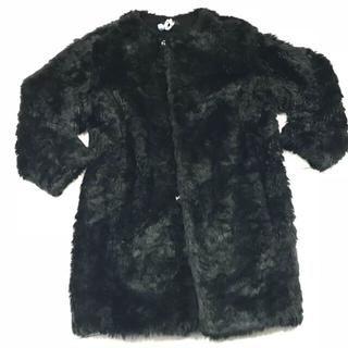ジーヴィジーヴィ(G.V.G.V.)のgvgv  BLACKフェイクファーコート    フリーサイズ(毛皮/ファーコート)
