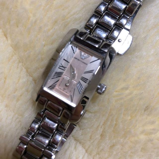 Emporio Armani(エンポリオアルマーニ)のエンポリオアルマーニ レディース 腕時計 ピンク レディースのファッション小物(腕時計)の商品写真