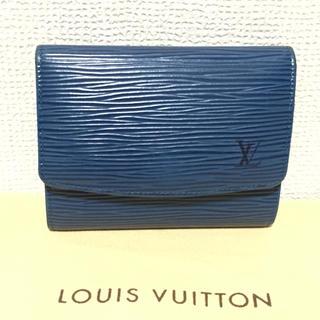 ルイヴィトン(LOUIS VUITTON)のルイヴィトン エピ カードケース ブルー(パスケース/IDカードホルダー)