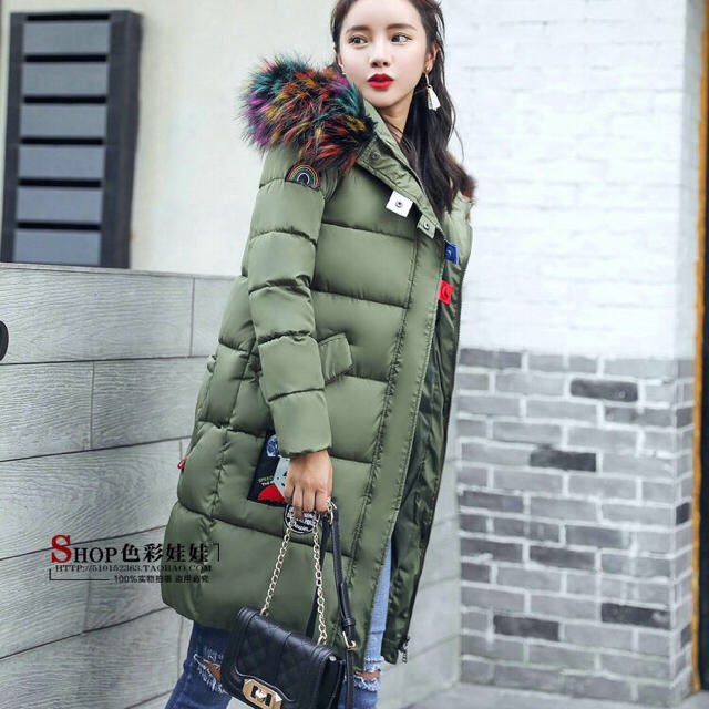 お値下げ♡ダウンコート カーキ、グリーン♡ レディースのジャケット/アウター(ダウンコート)の商品写真