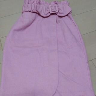 シュープリームララ(Supreme.La.La.)のラップスカート ピンク❤(ひざ丈スカート)