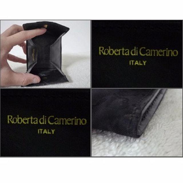 ROBERTA DI CAMERINO(ロベルタディカメリーノ)のロベルタディカメリーノ ナイロン×レザー 黒×R柄 コインケース メンズのファッション小物(コインケース/小銭入れ)の商品写真