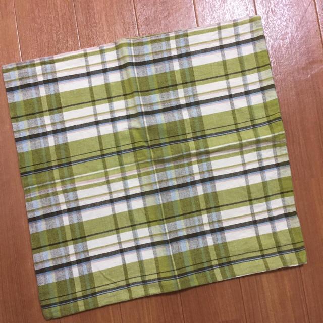 MUJI (無印良品)(ムジルシリョウヒン)のクッションカバー 45×45 チェック インテリア/住まい/日用品のインテリア小物(クッションカバー)の商品写真