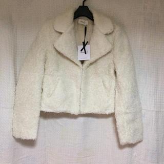 ニーナミュウ(Nina mew)の未使用 ニーナミュウ  モコモコ ジャケット (毛皮/ファーコート)