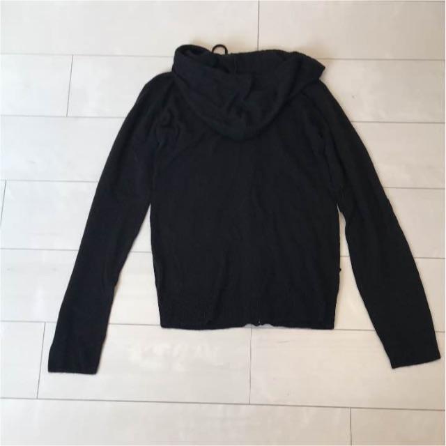 GU(ジーユー)の新品ジーユーGUカシミヤタッチフルジップパーカーS黒 メンズのトップス(ニット/セーター)の商品写真