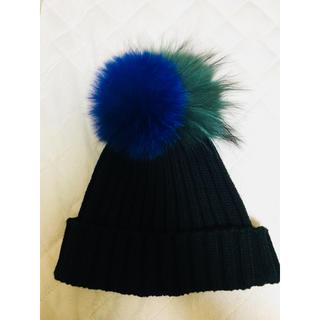 ルシェルブルー(LE CIEL BLEU)のLE CIEL BLUE ファーニット帽(ニット帽/ビーニー)