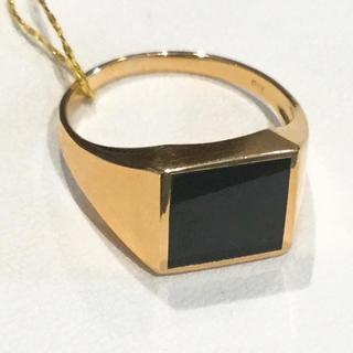 k18 オニキス リング メンズ レディース(リング(指輪))