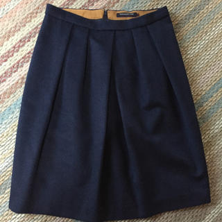 トゥモローランド(TOMORROWLAND)のトゥモローランド☆ ウール スカート (ひざ丈スカート)
