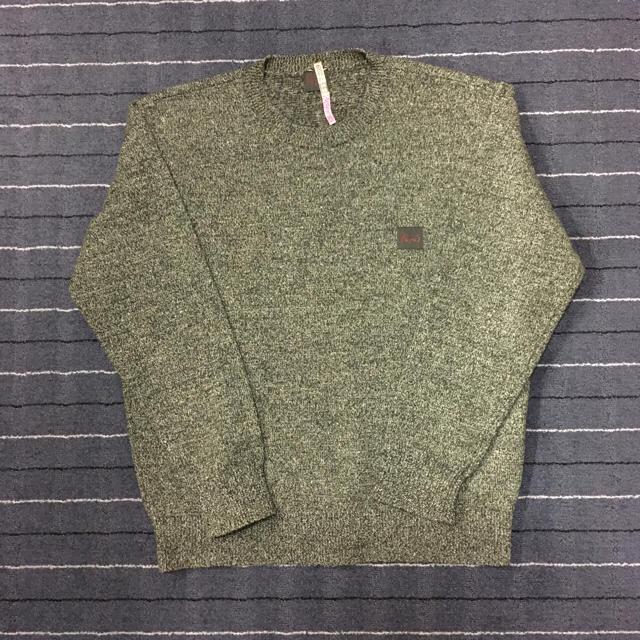[papas]グリーン杢調セーター メンズのトップス(ニット/セーター)の商品写真