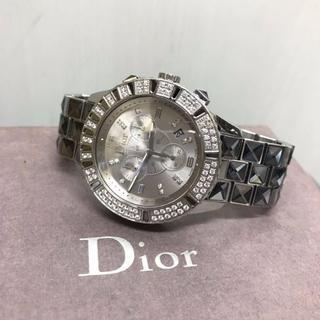 ディオール(Dior)のDior ディオール クリスタル クロノグラフ ダイヤベゼル(腕時計)