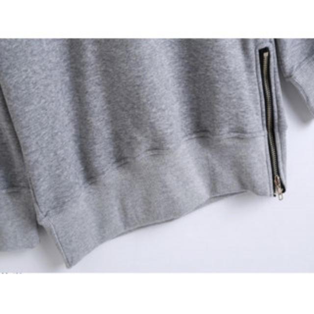 【秋冬の定番】 パーカー ゆったり 裏起毛 グレー レディースのトップス(パーカー)の商品写真