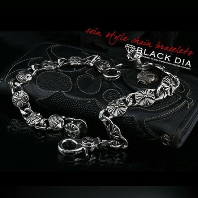 BLACKDIA ブラックダイヤ シルバー クロス マルチ ブレスレット メンズのアクセサリー(ブレスレット)の商品写真