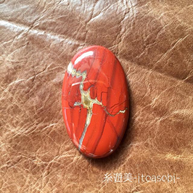 レッドジャスパー②ルース カボション 天然石 ハンドメイドの素材/材料(各種パーツ)の商品写真