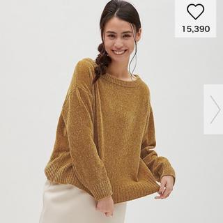 ジーユー(GU)のGU モールヤーンボートネックセーター(ニット/セーター)