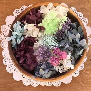 紫陽花よくばりセット♡リース・ハーバリウムなどに(プリザーブドフラワー)
