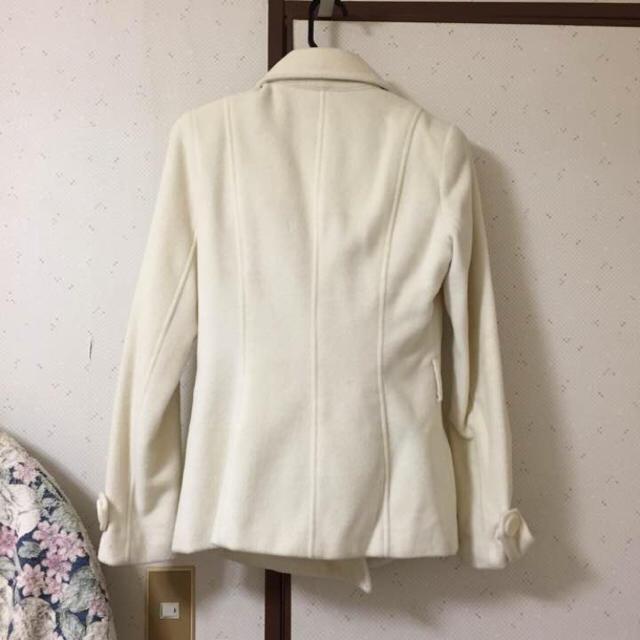 Pコート オフホワイト レディースのジャケット/アウター(ピーコート)の商品写真