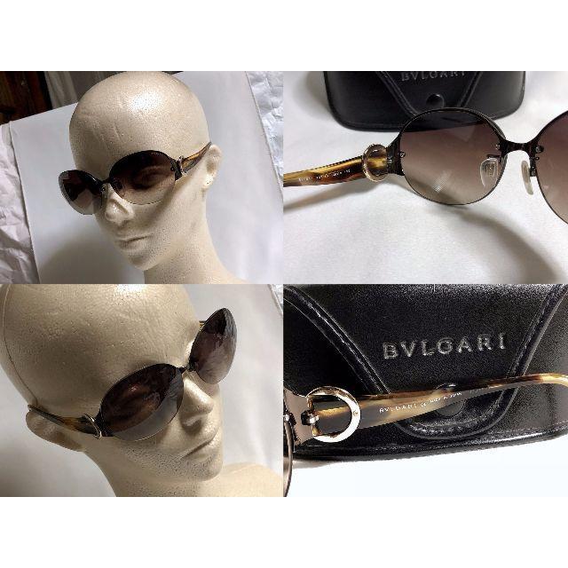 BVLGARI(ブルガリ)の正規美 ブルガリ B-zeroオーバルリング装飾 サングラス 茶×ライトゴールド メンズのファッション小物(サングラス/メガネ)の商品写真