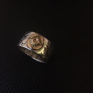 アリゾナ(ARIZONA)のアリゾナ K18 太陽神 リング 唐草 シルバー(リング(指輪))