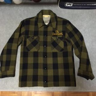 テンダーロイン(TENDERLOIN)のテンダーロインバッファローチェックシャツジャケットS美品キムタクルイスレザー(ブルゾン)