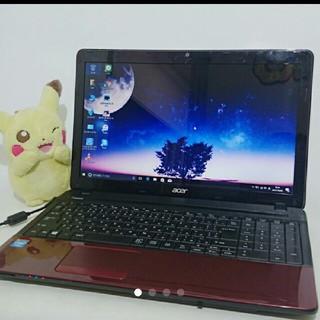 エイサー(Acer)の情熱レッド ACERノートPC 無線 win10 大容量4G 500G 即使用(ノートPC)