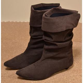 新品 2way スエード ブーツ XL 25.5 26 ブラウン DIANA(ブーツ)