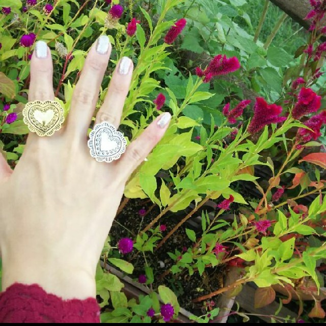 mini heart ring ハンドメイドのアクセサリー(リング)の商品写真