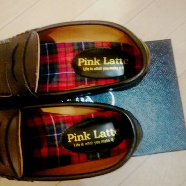 PINK-latte(ピンクラテ)のピンクラテ 黒 ローファー レディースの靴/シューズ(ローファー/革靴)の商品写真