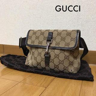 de23704934d1 グッチ(Gucci)のGUCCI グッチ イタリア製 GGキャンバス ウエストバッグ 1124(ボディバッグ
