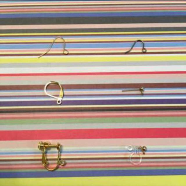 アンティークイヤリング ベージュ ファーボール ハンドメイド ピアス ハンドメイドのアクセサリー(イヤリング)の商品写真