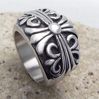434 「高級品」重みあり、サージカルステンレスクロスキーパーリング(リング(指輪))