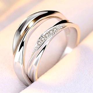 ペアリング カップル 指輪 Set シルバー 925 刻印 サイズ調整可能(リング(指輪))
