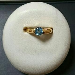 K18ブルートパーズピンキーリング(リング(指輪))