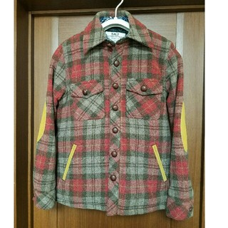 ティーエムティー(TMT)の美品 TMT 15AW CPO ウールチェック コート ジャケット S タグ付き(その他)