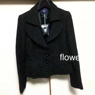 ヨンドシー(4℃)の【新品】定価33,600円 4℃ ツイードジャケット ブラック(テーラードジャケット)