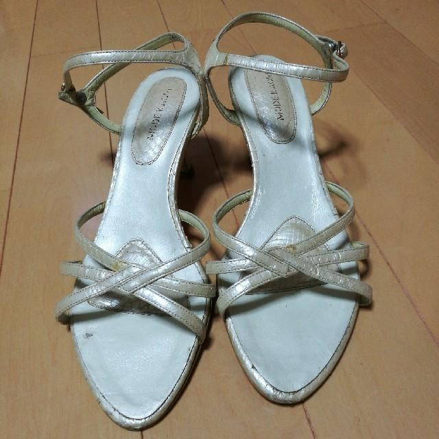 MODE KAORI ホワイトパープル サンダル レディースの靴/シューズ(サンダル)の商品写真