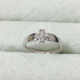 ミッシェルクラン(MICHEL KLEIN)のK18WG ダイヤリング クロス ミッシェルクラン(リング(指輪))