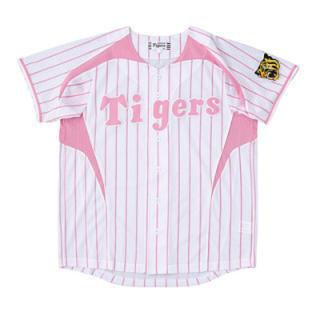 ハンシンタイガース(阪神タイガース)のタイガース ユニフォーム ピンク Sサイズ(応援グッズ)