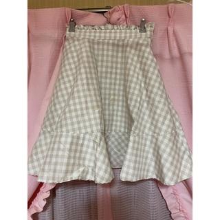 リズリサ(LIZ LISA)のリズリサ♡ふんわりチェック膝丈スカート(ひざ丈スカート)