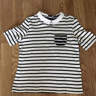 プチバトー(PETIT BATEAU)のフランスの人気ブランド プチバトー 小さな襟が可愛いボーダーTシャツ(Tシャツ/カットソー(半袖/袖なし))