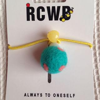 ロデオクラウンズワイドボウル(RODEO CROWNS WIDE BOWL)の新品   ヘアゴム   ロデオクラウンズ RCWB   水玉ボール グリーン(その他)