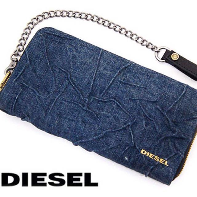 5b6323c996c5 DIESEL(ディーゼル)の最終値下げ 新品 DIESEL デニム ラウンドファスナー長財布 メンズの