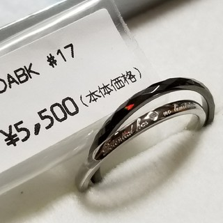 30 サージカルステンレス、タングステン2連リング 17号 新品未使用(リング(指輪))